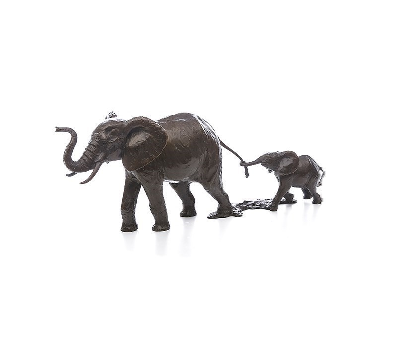Hold on Tight by Michael Simpson - Bronze Sculpture sized 15x6 inches. Available from Whitewall Galleries